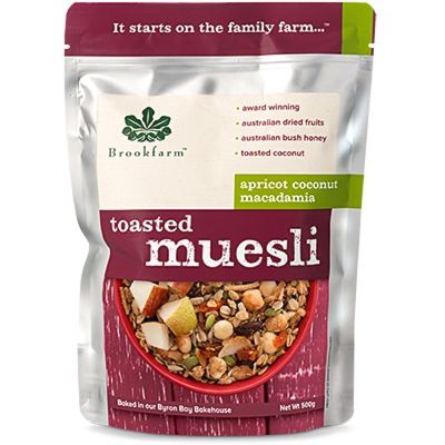 Brookfarm Toasted Muesli with Apricot 500g