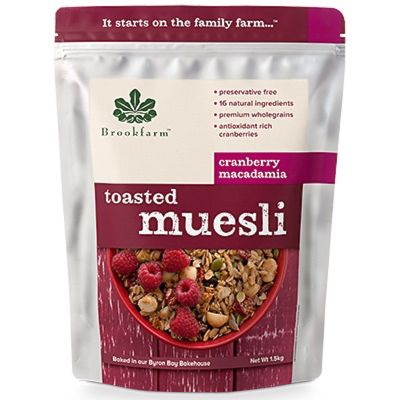 Brookfarm Toasted Muesli with Cranberry 1.5kg