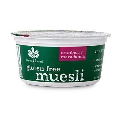 Brookfarm Gluten Free Muesli Cranberry Tub 50g