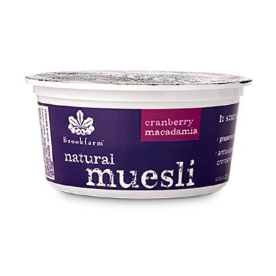 Brookfarm Natural Muesli Cranberry Tub 75g