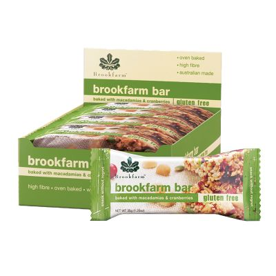Brookfarm Gluten Free Bar with Cranberry 35g