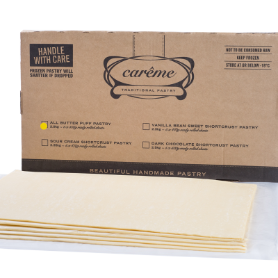 Carême 2.5kg Pastry Butter Puff Pastry 2.5kg
