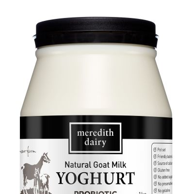 Meredith Yoghurt Black Goats Milk 1kg