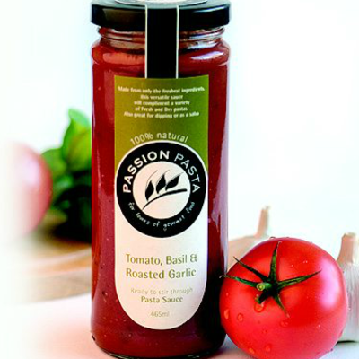 Passion Pasta Sauce Tomato, Basil & Garlic 465ml (WA)