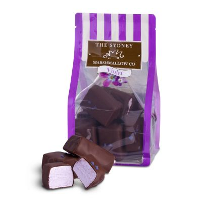 Sydney Marshmallow Co Chocolate Violet 200g
