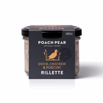 Poach Pear Rillette Duck, Chicken & Porcini 180g