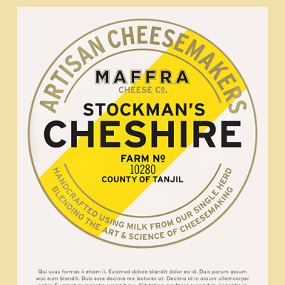 Maffra Pyramid Stockman's Cheshire 2kg RW