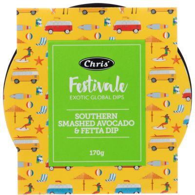 Chris' Festivale Southern Smashed Avocado & Fetta Dip 170g
