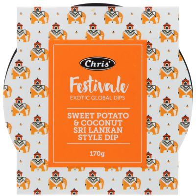 Chris' Festivale Sweet Potato & Coconut Sri Lankan Style Dip 170g