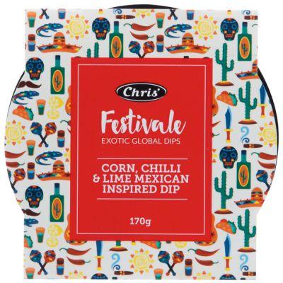 Chris' Festivale Corn, Chilli & Lime Inspired Dip 170g