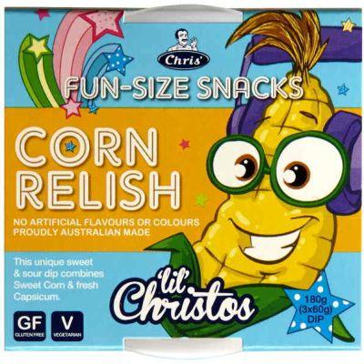 Chris' Funsize-Snacks Corn Relish Dip 180g
