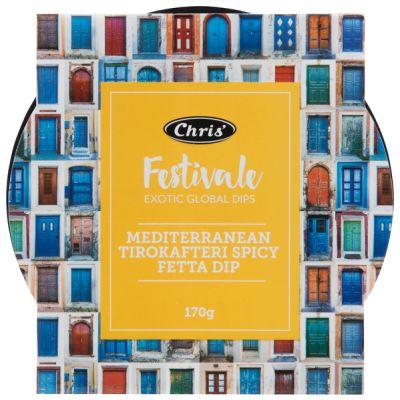 Chris' Festivale Mediteranean Tirokafteri Spicy Fetta Dip 170g