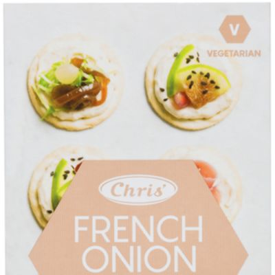 Chris' Mini Dip & Crackers French Onion 65g