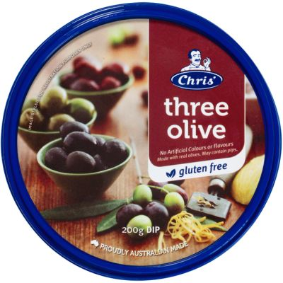 Chris' Traditional Three Olive Dip 200g (WA)