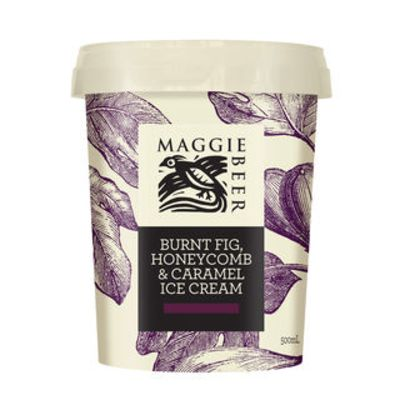Maggie Beer Icecream Burnt Fig Honey & Caramel 500ml