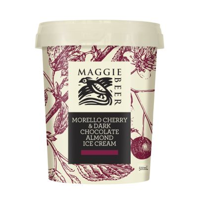 Maggie Beer Icecream Morello Cherry & Dark Chocolate Almond 500ml