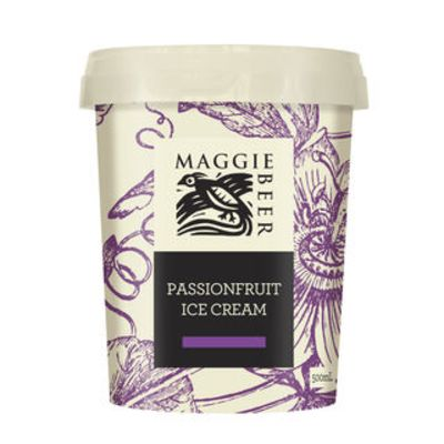 Maggie Beer Icecream Passionfruit 500ml