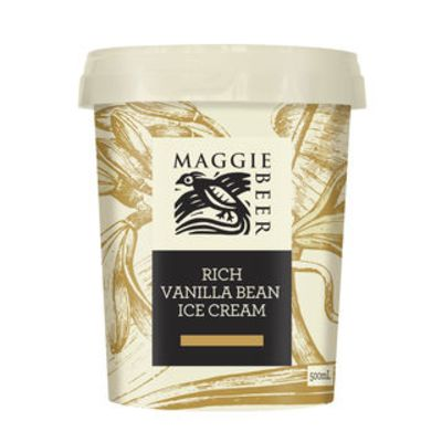 Maggie Beer Icecream Rich Vanilla 500ml (WA & QLD)