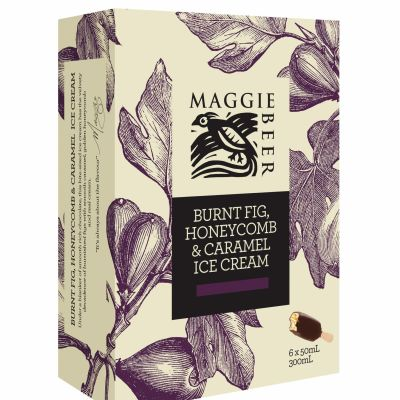 Maggie Beer Icecream Sticks Burnt Fig Honeycomb 300ml