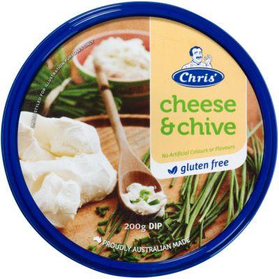 Chris' Traditional Cheese & Chives Dip 200g (WA)