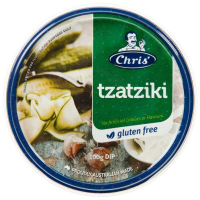 Chris' Traditional Tzatziki Dip 200g (WA)