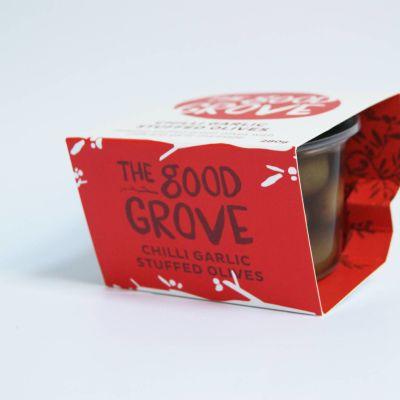 The Good Grove Stuffed Chilli & Garlic Olives 280g