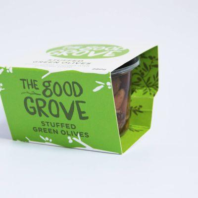 The Good Grove Stuffed Green Olives 280g