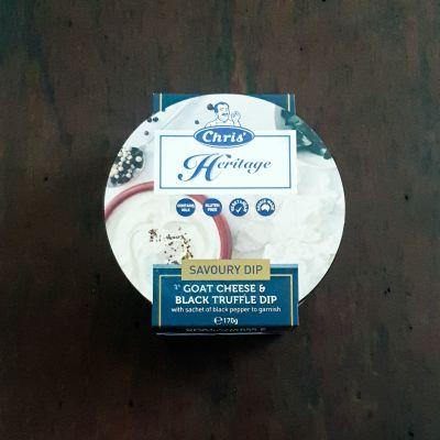 Chris' Heritage Goats Cheese & Black Truffle Dip 170g (WA)