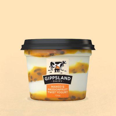 Gippsland Dairy Mango & Passion Yoghurt 720g