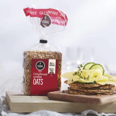 Sigdal Crispbread Wheat Free with Oats 190g