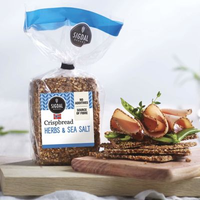 Sigdal Crispbread Herb & Sea Salt 190g