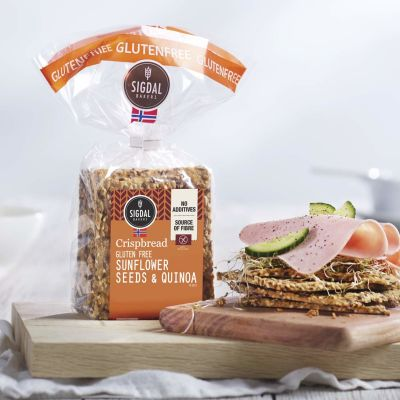 Sigdal Crispbread Wheat Free with Sunflower & Quinoa 190g
