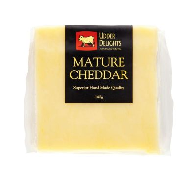 Udder Delights Mature Cheddar 180g (WA)