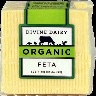 Divine Dairy Organic Feta 200g (WA)