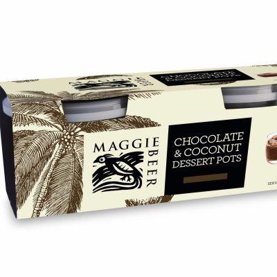 Maggie Beer Chocolate & Coconut Dessert Pots 160g