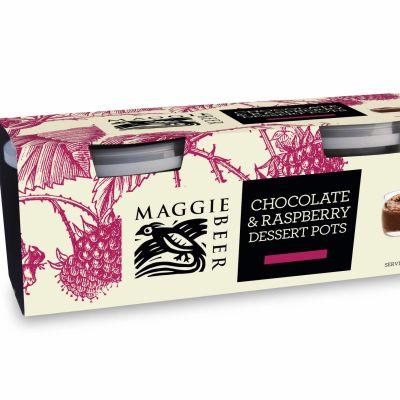 Maggie Beer Chocolate & Raspberry Dessert Pots 160g