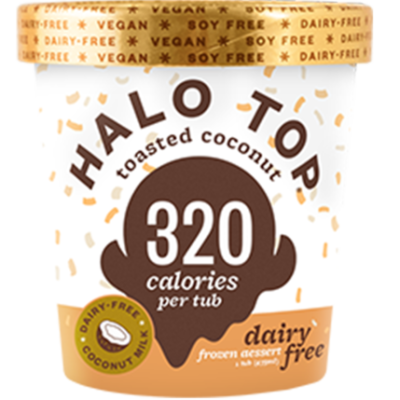 Halo Top DF Toasted Coconut 473ml (WA & QLD)