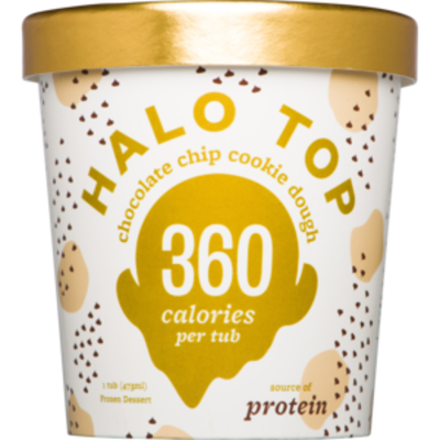 Halo Top Chocolate Chip Cookie Dough 473ml (WA & QLD)