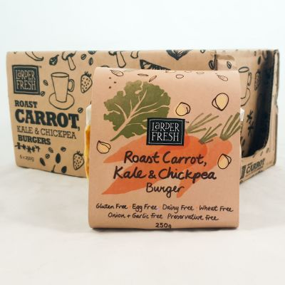 Larder Fresh Roast Carrot, Kale & Chickpea Burger 250g (WA)
