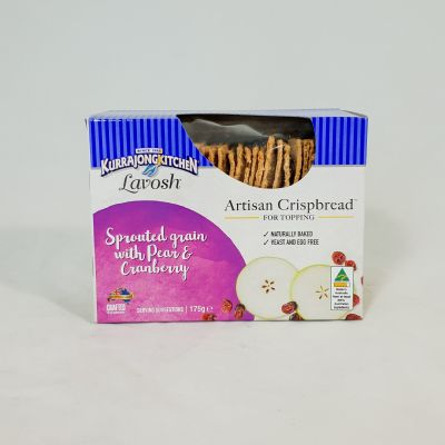 Kurrajong Kitchen Artisan Sprouted Grain with Pear & Cranberry
