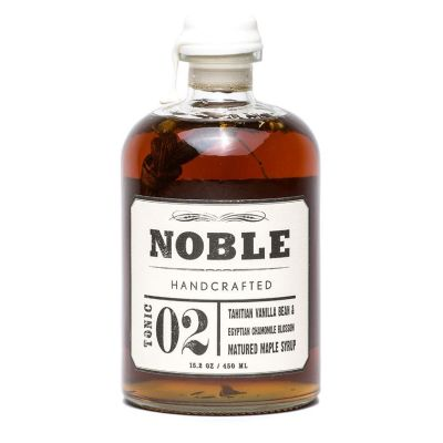 Noble Handcrafted Tonic 02  Tahitian Vanilla & Egyptian Chamomile Infused Maple Syrup