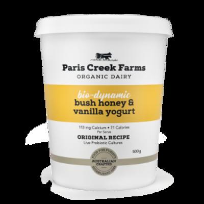 Paris Creek Farms Bio Dynamic Bush Honey & Vanilla Yoghurt 500g (WA)