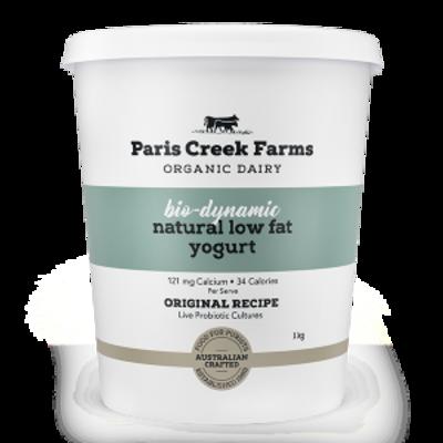 Paris Creek Farms Bio-Dynamic Natural Low Fat Yogurt 1kg (WA)