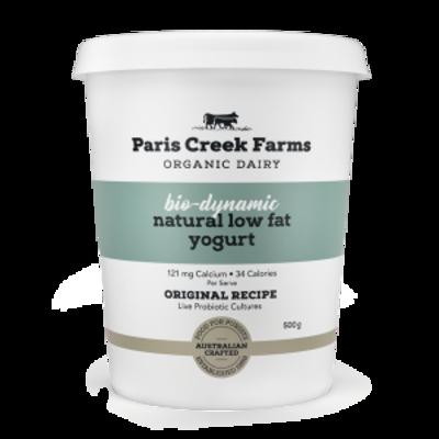 Paris Creek Farms Bio-Dynamic Natural Low Fat Yogurt 500g (WA)