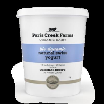 Paris Creek Farms Bio Dynamic Natural Swiss Yogurt 1kg (WA)