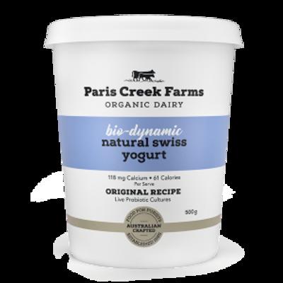 Paris Creek Farms Bio-Dynamic Natural Swiss Yogurt 500g (WA)