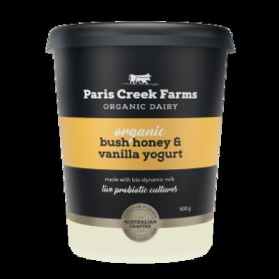 Paris Creek Farms Organic Bush Honey & Vanilla Yogurt 500g (WA)