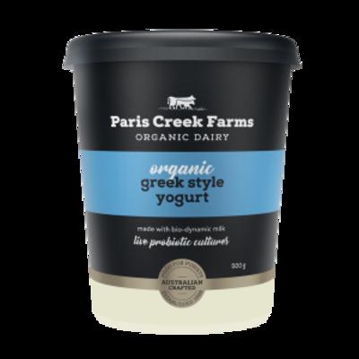 Paris Creek Farms Organic Greek Style Yogurt 500g (WA)