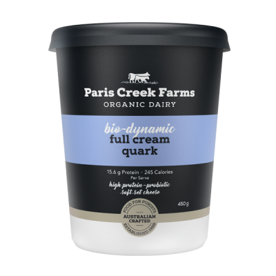 Paris Creek Farms Bio-Dynamic Full Cream Quark 450g (WA)
