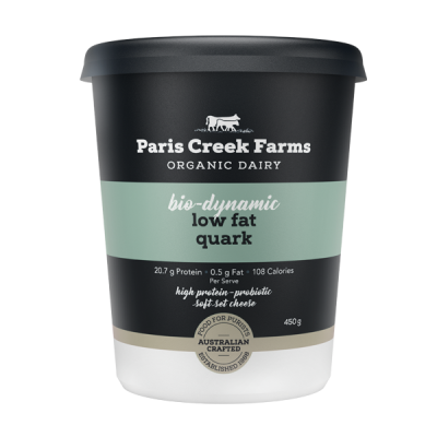 Paris Creek Farms Bio-Dynamic Low Fat Quark 450g (WA)